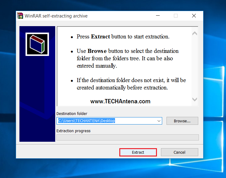 create sfx archive in winrar with password protection 8