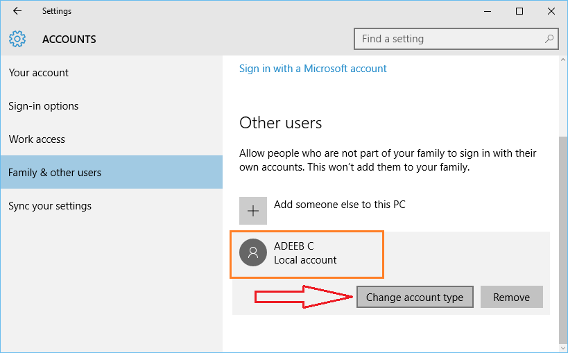how to add new users in windows 10 computer 4
