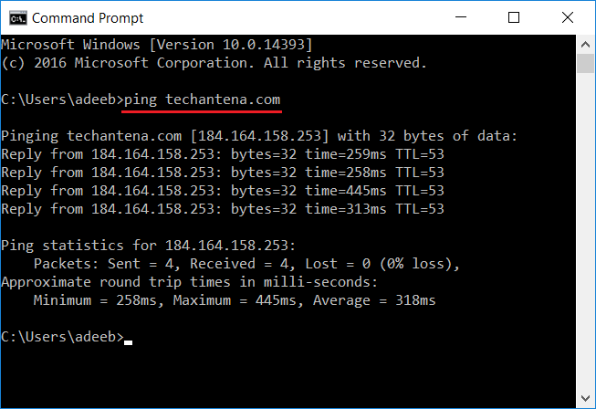Find Website Ip Address Using Command Prompt In Windows