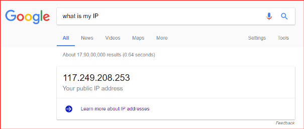 find public ip address