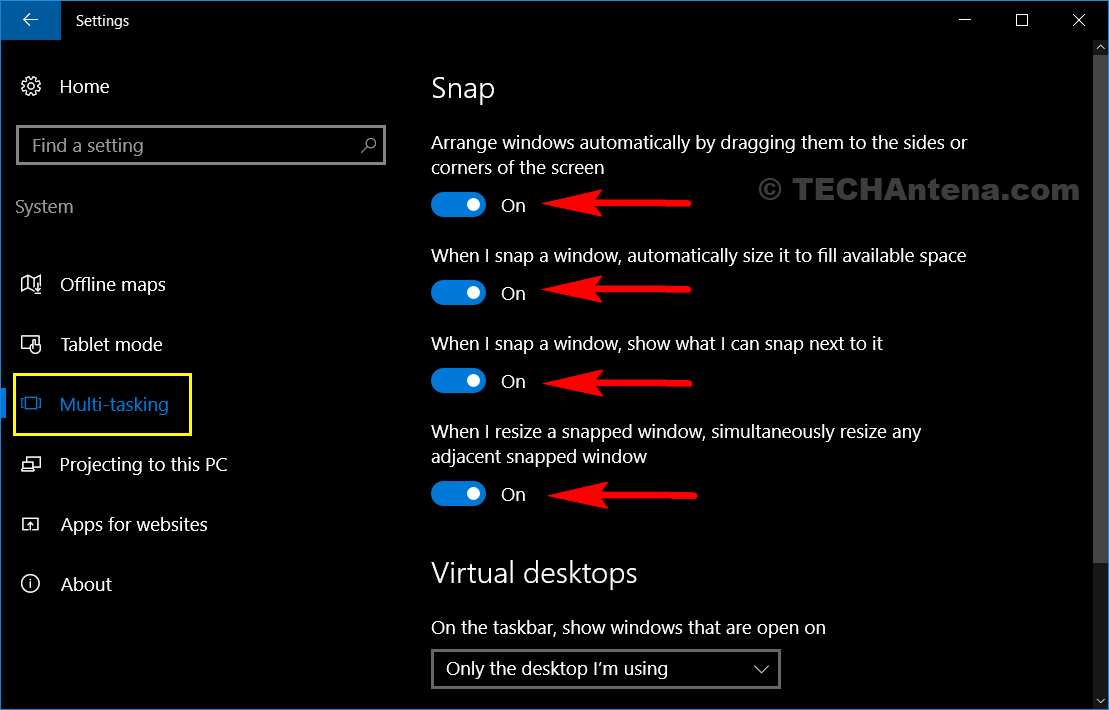 Multi-Tasking Feature of Windows